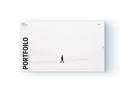Full Screen Portfolio Design UI Kit desktop uxui minimalistic minimalist sketch blog portfolio website design webdesign figma adobe flat business website brand ui minimal digital ux design