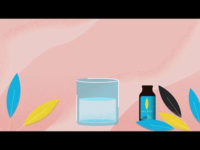 Animated Promotion (2) - Sacred Tincture Short Version storyboard illustration animation working mom refresh tincture