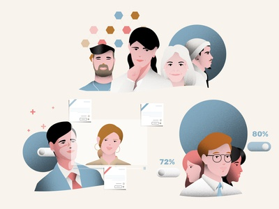 Character Illustrations for HR company
