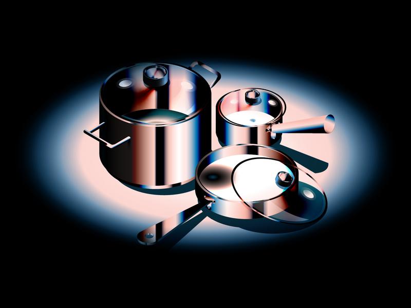 Isometric kitchenware