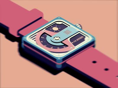 LOFI inspired isometric watch