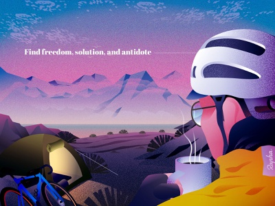 Freedom, solution, and antidote coffee sky winter rapha iceland adventure travel cycling nature illustration