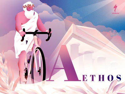 A bicycle for the Zeus greek god road bike specialized bicycle zeus illustration