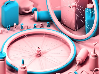 3D Illustration Study 3d art cycling modeling tubeless bicycle cinema4d illustration