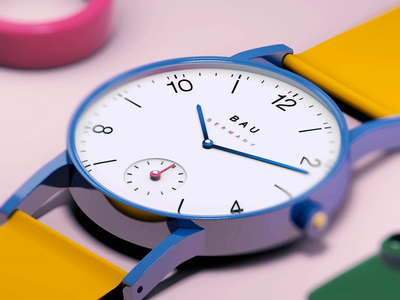 Neu Bauhaus - C4D studying nomos color aftereffects bauhaus watch 3dmodelling c4d