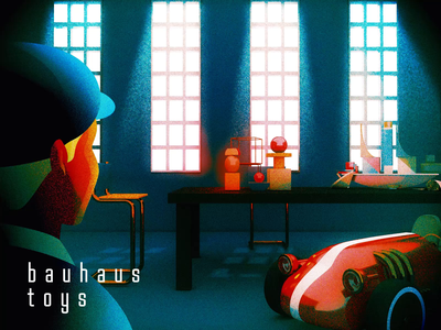 Bauhaus Toys - Studying C4D toys 2d animation after effect bauhaus 3d modeling c4d illustration