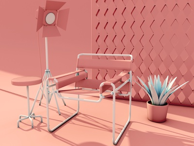 Wassily Chair (Model B3) color studying wassilychair bauhaus c4d 3d modeling