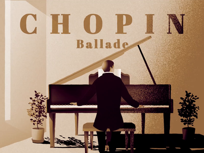 Inspired by Frédéric Chopin classical music ballade chopin pianist piano animation illustration
