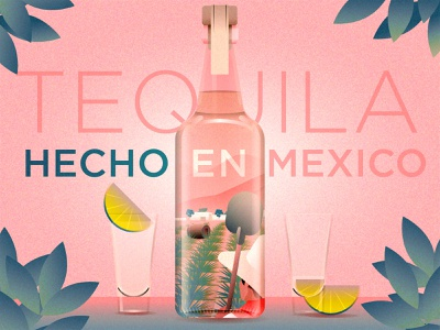 Tequila, Hecho En Mexico mood lime liquor hecho en mexico mexico tequila illustration