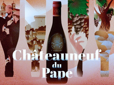 Châteauneuf-du-Pape - The Pope's Wine wine study grain middle ages france wine france pope wine illustration
