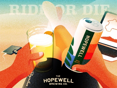 Enjoy my favorite beer after riding hopewellbrewing rideordie weekend resting beer cycling illustration