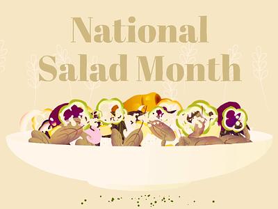 National Salad Month Animation salad may motiongraphics marketing animation national salad month animation illustration