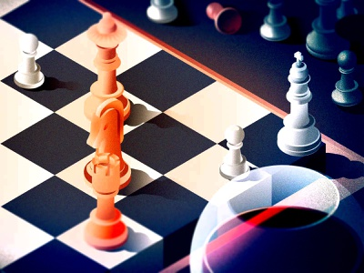 Checkmate - Game is over grain checkmate chess isometric illustration