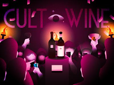 Cult Wine cult wine illustration cult wine