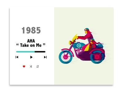"1980's pop series - 1 ""Aha - Take on me"""