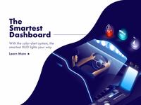 Isometric dashboard & HUD