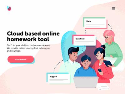 Cloud based online tutoring - concept