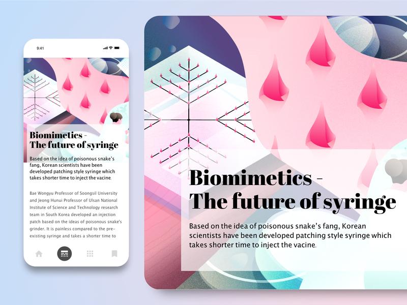 Biomimetics - The future of syringe