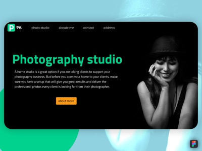 photography landing page dribbble figma file figmadesign html template freedownload photography design landingpage landing page landing uidesign