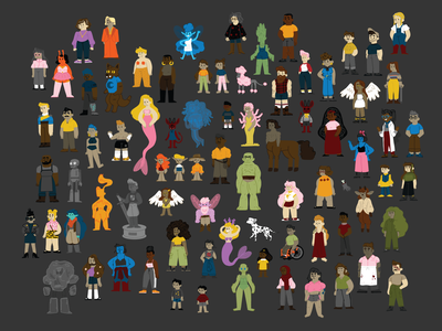 characters sci-fi fantasy vector illustration character design characters