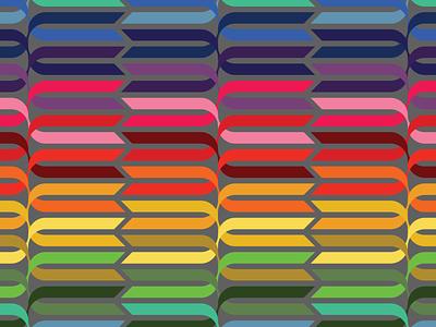 ribbon pattern ribbon rainbow vector design pattern