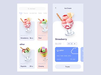 Ice Cream design 向量 设计 ui