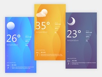 Weather interface guide page