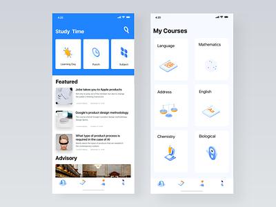 Education App 应用 ux ui