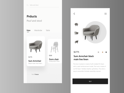 E-commerce concept ui ux 设计