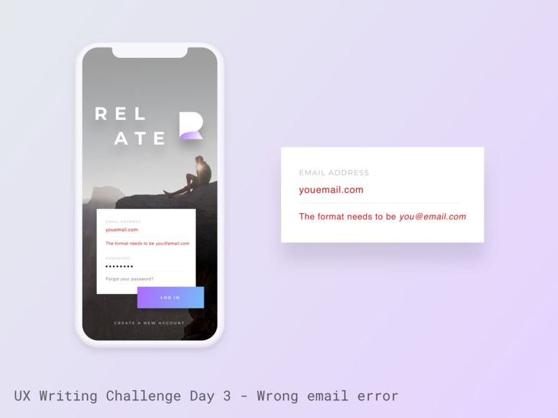 UX Writing Challenge - Day 3 ux writing challenge error email validation error message ux writing