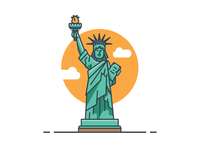 ICON / ILLUSTRATION | Statue Of Liberty
