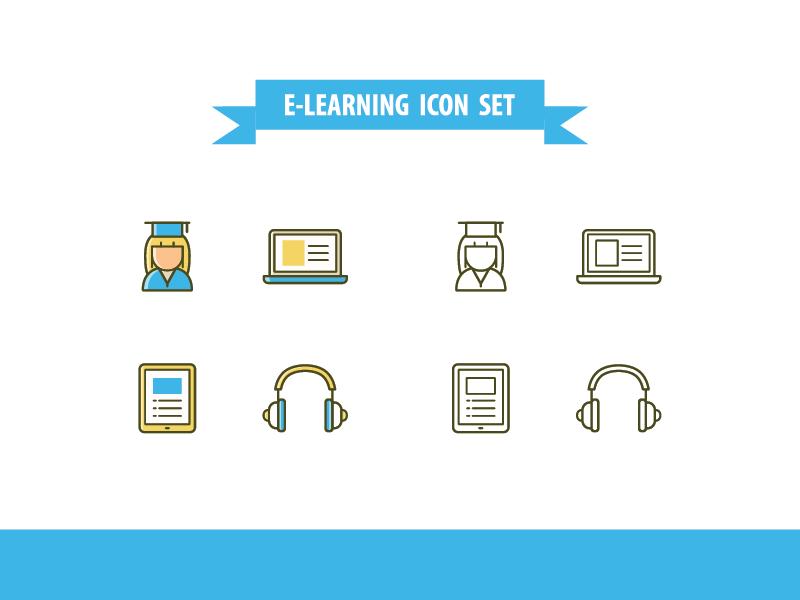 ICON | E-Learning school icon e-learning icon education icon university school study e-learning education icon