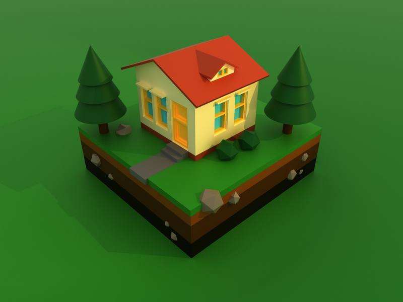 "Isometric 3D ""HOME"" autodeskmaya maya maxon lowpolyart concept 3dcommunity motiongraphics motion design graphicdesign 3dillustration isometric design isometry lowpoly redshift3d 3d art isometric daily render render redshift cinema4d"