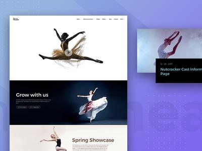 Ballet School Landing Page madewithadobexd adobe photoshop adobe xd blue rapidgems classical dance homepage web website landingpage ballet