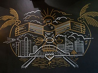 Hand Painted Mural at Citi Roast Coffee Co.