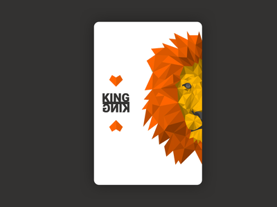 Weekly warm-up   |   Playing card illustration lion design illustration weekly challenge weeklywarmup