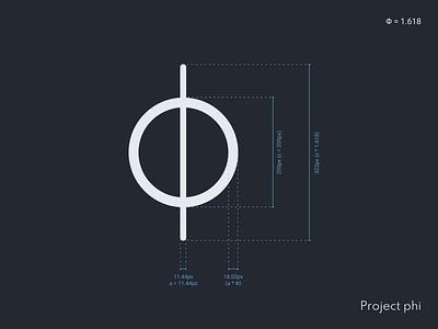 Project phi - Logo guidelines branding logo vector icon graphics design graphics designer ux ui design