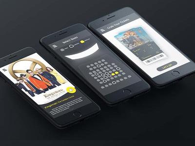 Movie Tickets Booking App Design ux ui design ticket movie app