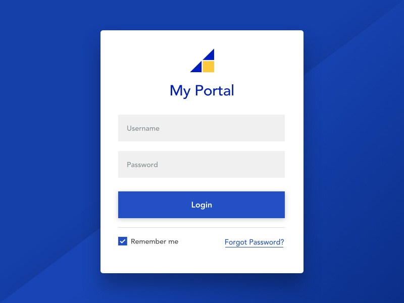 Simple Login by Dave Magdales for Levatas on Dribbble