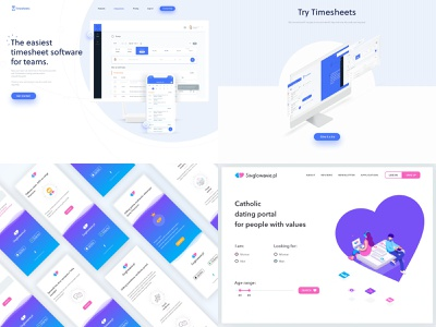 My 2018 on Dribbble! top 4 2018 illustration motion design motion design interactions website landing page web landing ux ui