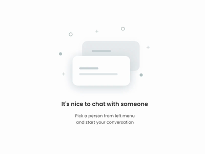 Chat empty state