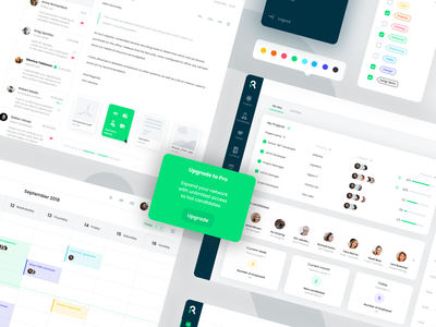 UI components design system dashboard symbols ui elements elements empty states components ui components application illustration design recruiting recruitment ats app web ux ui
