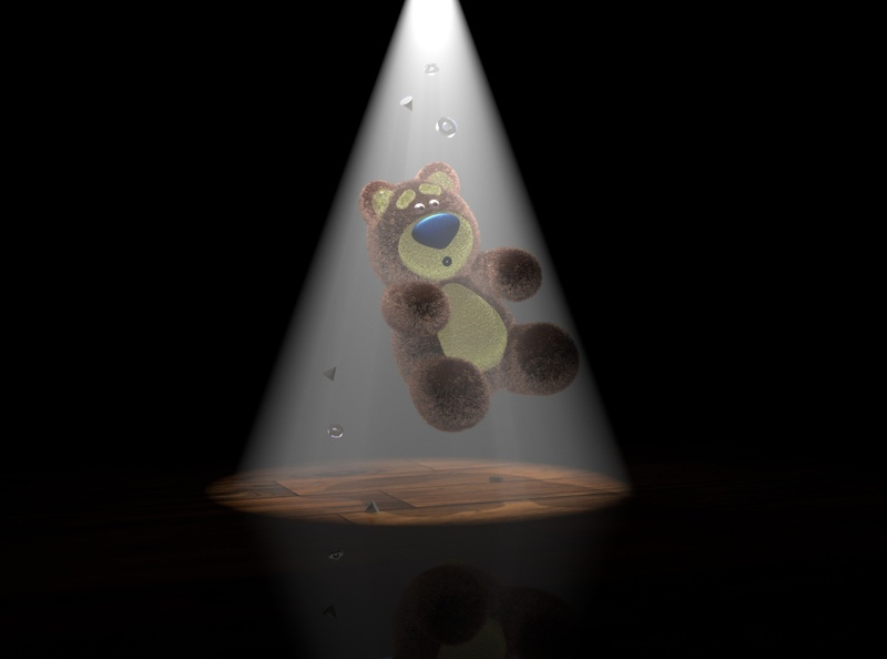 3D Teddy Bear UFO abduction