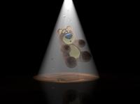 3D Teddy Bear UFO abduction