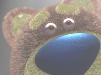 Teddy Bear UFO Abduction Closeup