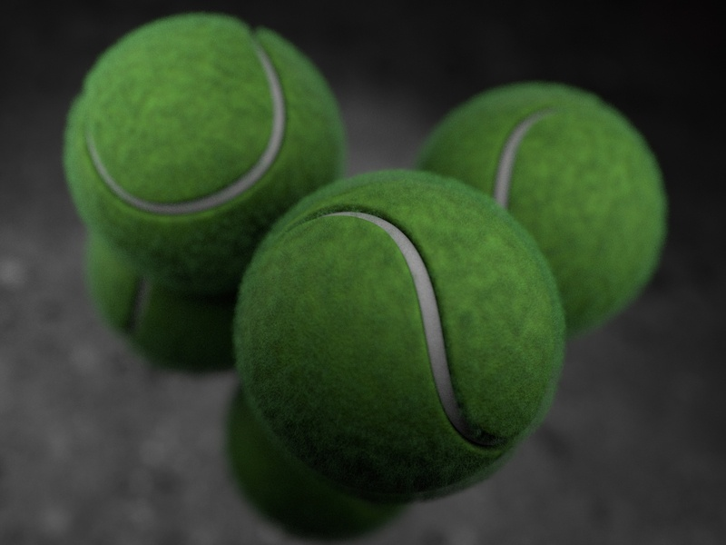 Tennis Balls - 3D Illustration