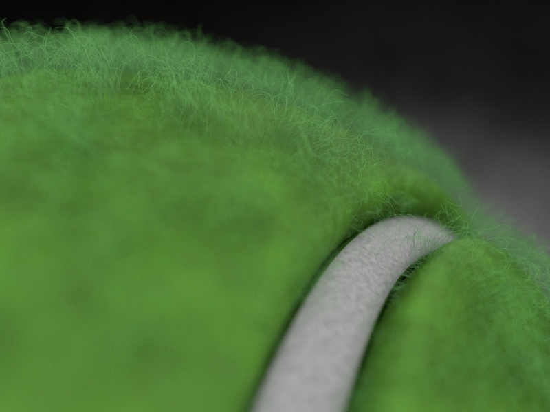 Tennis Ball Close-up - 3D Illustration