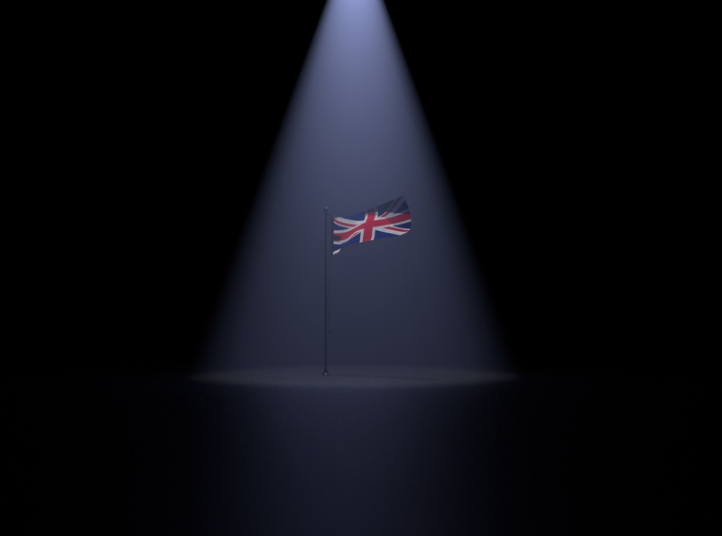 British Flag Far Shot - 3D Illustartion
