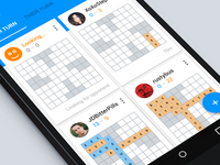 Material Design for Crossword Game