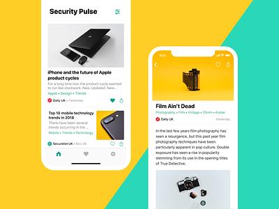 Kaspersky Lab's blog security app design tech apple article news reader design ui ux android ios